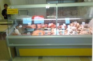 Chladící box s nabídkou masa