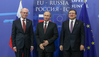 Jednání Putina s představiteli EU