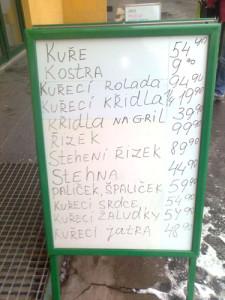 nabídka masa