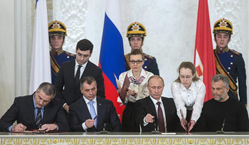 Podpis připojení Krymu k RF