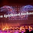 Na zemi kontrolovaná posádkou pomocí počítače se softwarem Intel, masa dronů rozzářila noční oblohu v synchronizaci k živému provedení Beethovenovy Páté symfonie a provedla ohromující světelnou show připomínající ohňostroj.