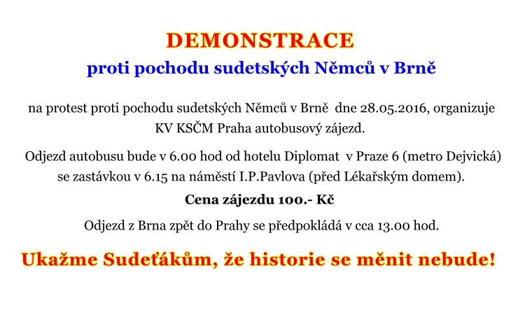 Pozvánka na akci Brno