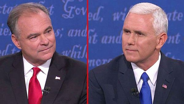 Time Kaine a Mike Pence
