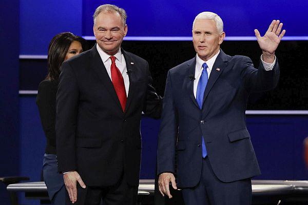 Tim Kaine a Mike Pence